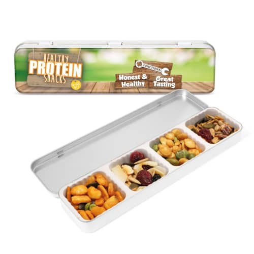 PromotionalProtein Snack Slim Tins for Marketing Campaigns