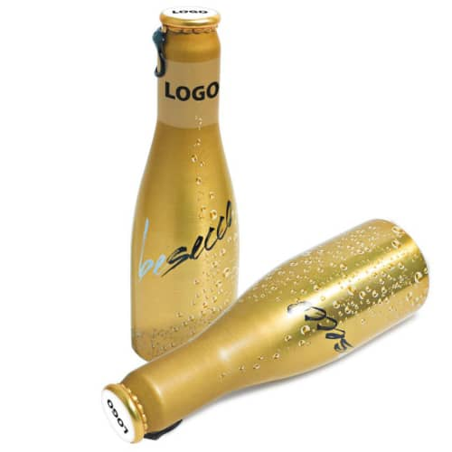 Our promotional Mini Prosecco Bottles are ideal for corporate events!