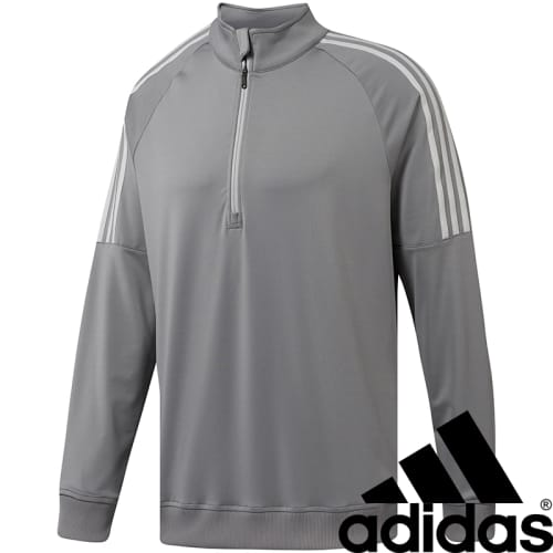 Promotional Adidas 3 Stripe Quarter Zip Top for Merchandise