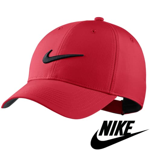 Red Promotional Nike Legacy 91 Tech Caps with your Company Logo