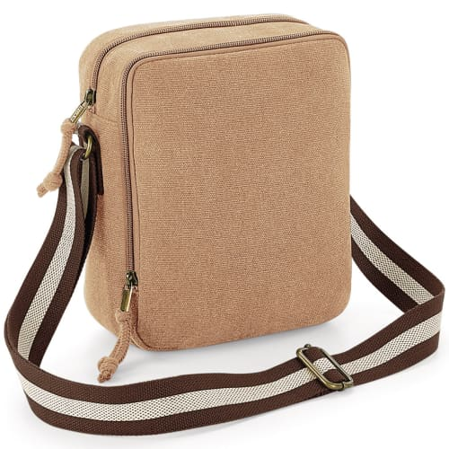 Promotional Vintage Canvas Mini Reporter Bags for Exhibitions