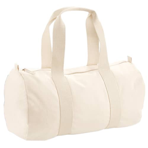 Promotional Organic Cotton Barrel Bags for Events