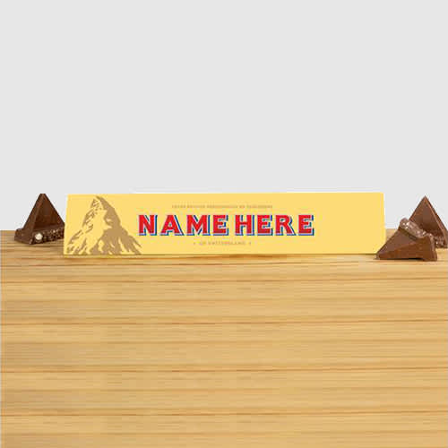 Personalised Toblerones, printed with your company name or text, they make a delicious giveaway.