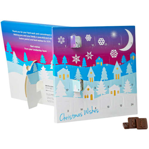 Promotional Foil Sealed Desktop Advent Calendars with Your Corporate Logo