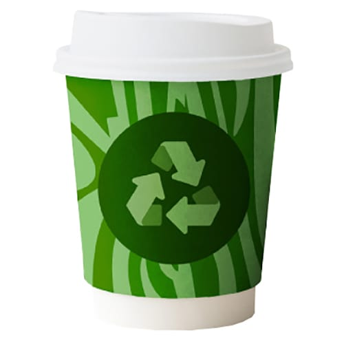 Branded Compostable Paper Cups Printed for Eco-Friendly Promotional Giveaways