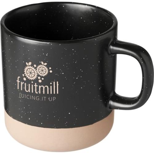 Branded Pascal 360ml Ceramic Mugs with Logos