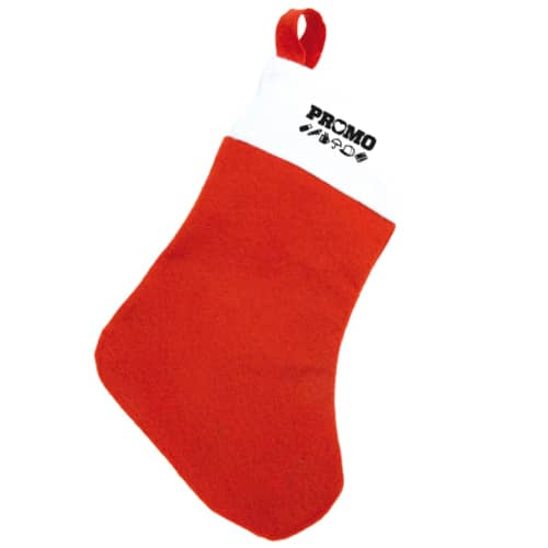 Promotional Christmas Stockings with your Company Logo Make Great Novelty Giveaways this Christmas