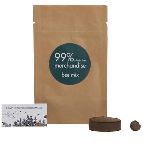 Promotional Bee Mix Bio Grow Pouches has an innovative seedball that contains wildflower seeds