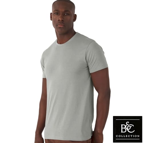 Organic Cotton Promotional T-Shirt In Light Grey