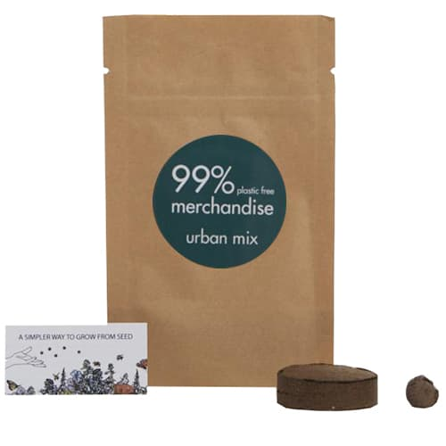 Printed Urban Mix Bio Grow Pouches have specially blended flower seed mix for growing in an urban space.