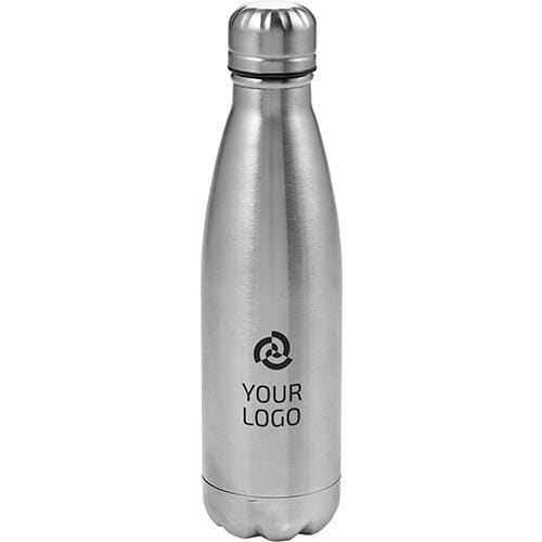 Custom Personalised 500ml Double Walled Metal Bottles made from strong stainless steel