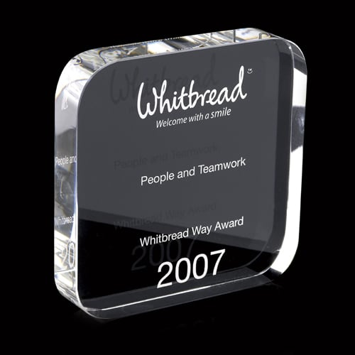 120mm Crystal Square Paperweight Awards