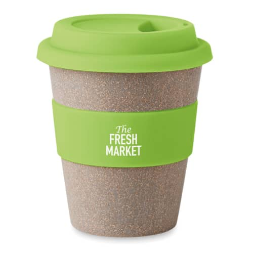 Reusable travel cup in green