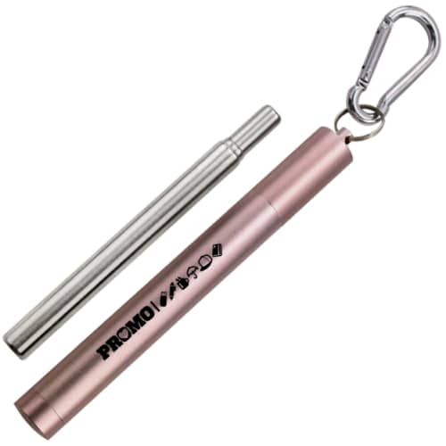 Reusable Metal Straw in Pink