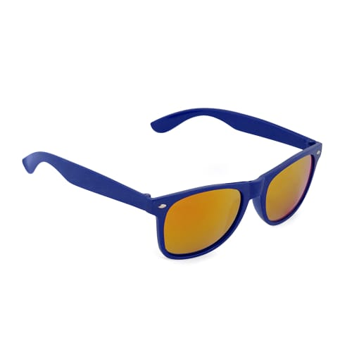 Mirrored promotional sunglasses in blue
