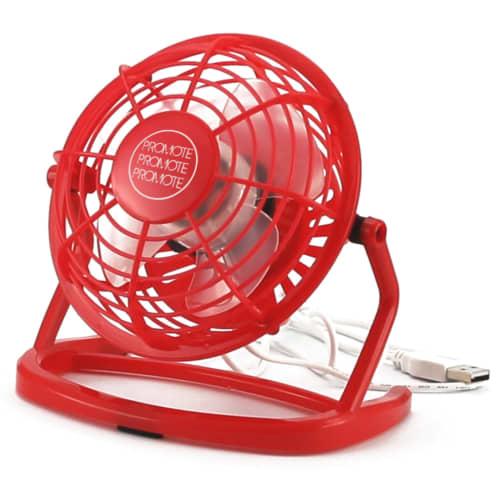 Red Printed Desktop Fan