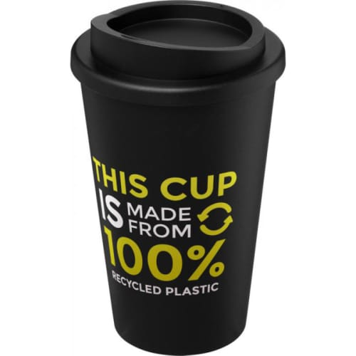 Recycled Branded Travel Mug in Black