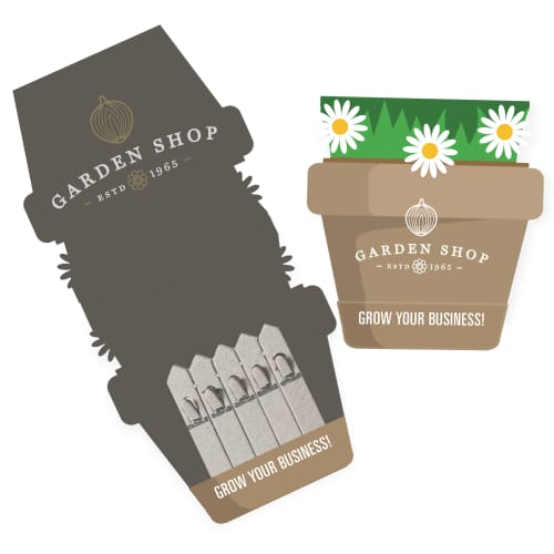 Promotional seed sticks in plant pot shaped packaging
