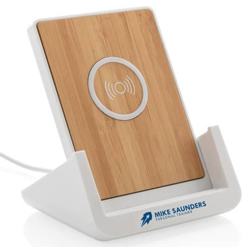 Promotional wireless charging stand