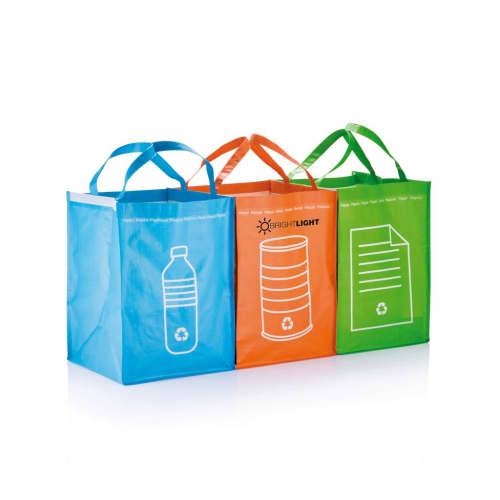 Range of branded recycle waste bags