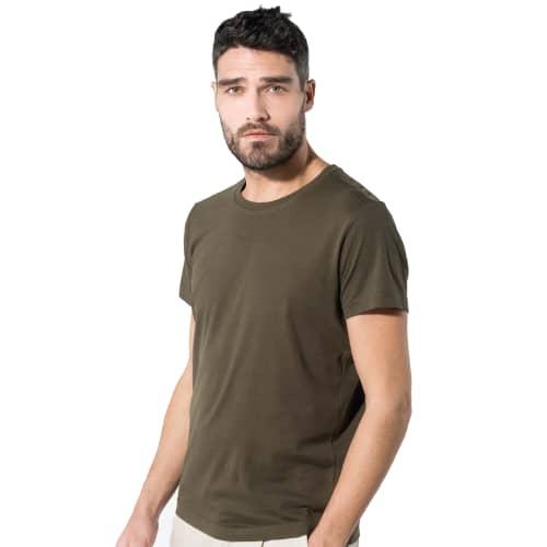 Kariban Organic Cotton T-Shirts In Mossy Green