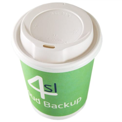 Promotional 12oz Double Wall Paper Cups with Lids for events