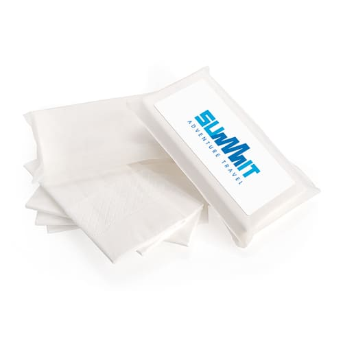 Promotional 5 White 3-Ply Tissues in Biodegradable Pack