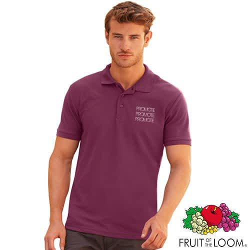 Promotional Fruit of the Loom Polo Shirts for companies