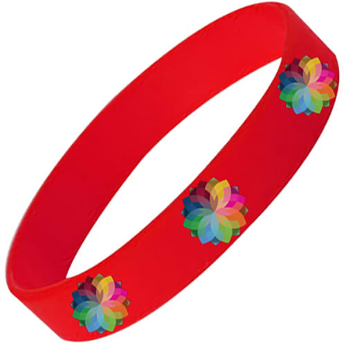 Full Colour Printed Silicone Wristbands