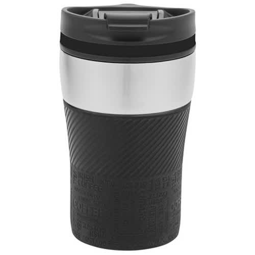 250ml Double Walled Travel Mugs in Black