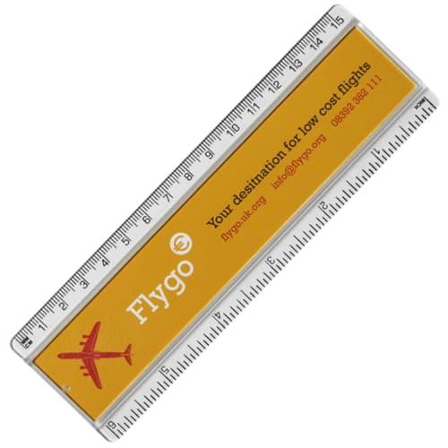 15cm Insert Ruler in Clear