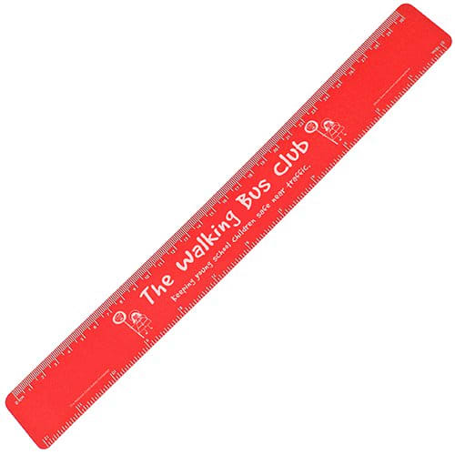 30cm Recycled Flexi Rulers in Red
