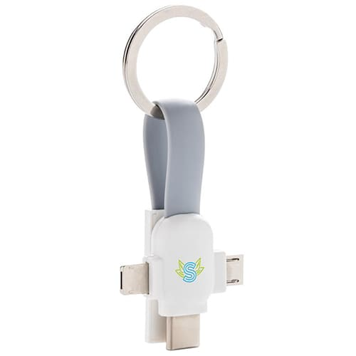 Promotional 3 in 1 USB Adaptor Cables with company logos