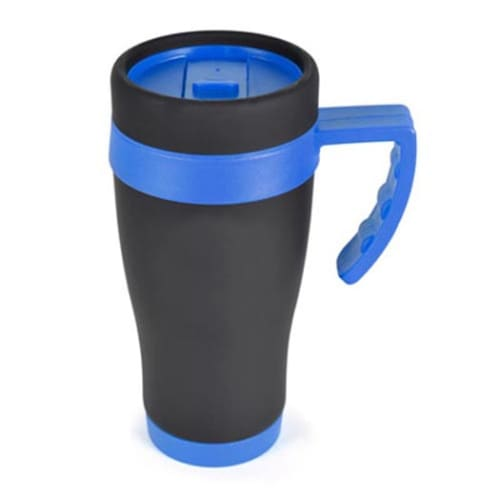 Promotional 450ml Oregan Matt Black Travel Mugs for Business Gifts