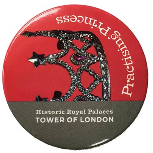Promotional 45mm Button Badges with campaign artwork