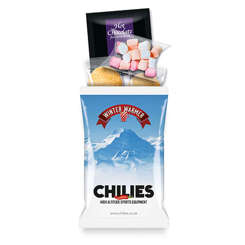 Custom printed Hot Chocolate Refresher Packs for events