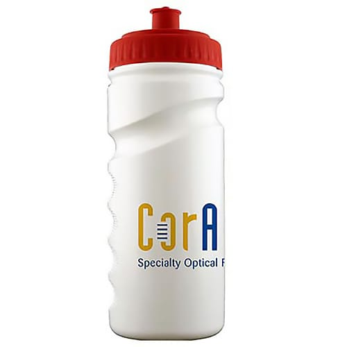 Printed Finger Grip Sports Bottles for university giveaways