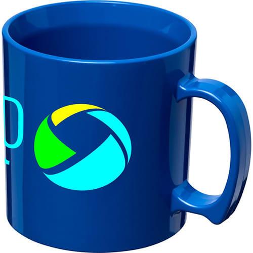 Standard Plastic Mugs in Blue