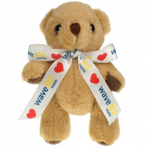 5 Inch Honey Jointed Bear with Bow