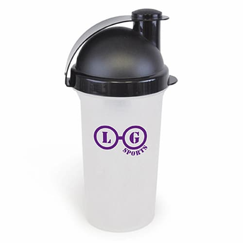 Our promotional protein shaker bottle is ideal for taking your branding out-and-about.