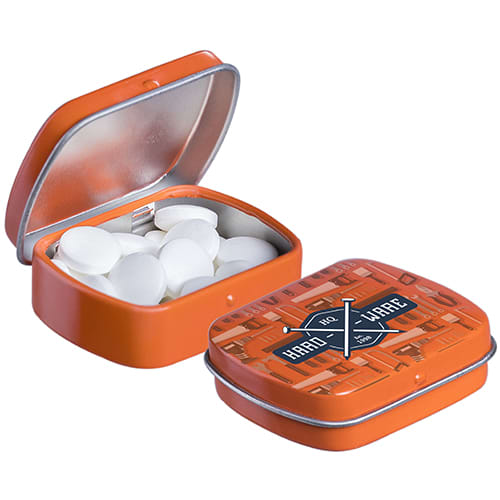Micro Hinged Mint Tins in Orange