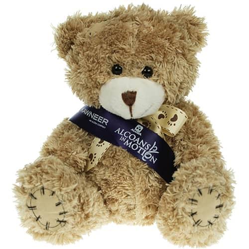 12cm Paw Teddy Bears in Mocha