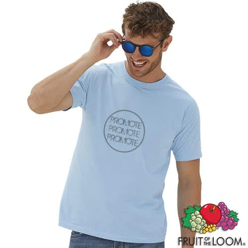Printed Fruit of the Loom Valueweight T-Shirts for festivals