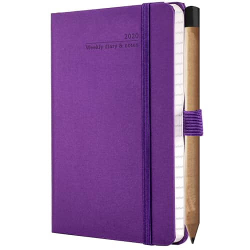 Ivory Pocket Weekly Diaries With Pencil