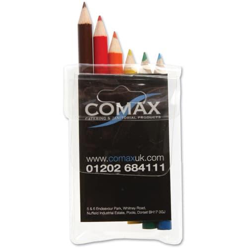 6 Pack Mini Colouring Pencils