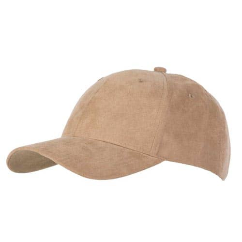 6 Panel Faux Suede Caps