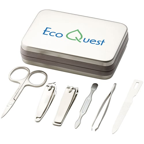6 Piece Manicure Set in Silver