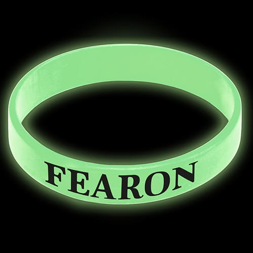 Printed Express Glow in the Dark Silicone Wristbands for events