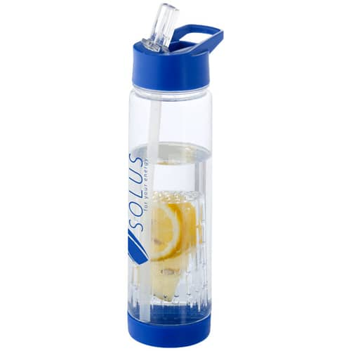 Promotional 740ml Fruit Infuser Bottles printed with logos