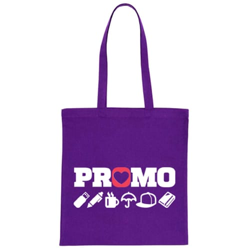 Purple Promotional Coloured Cotton Tote Bags for Events